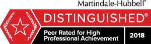personal Martindale Peer Review rating badge