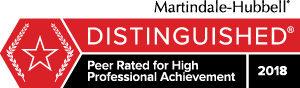 personal Martindale Peer Review rating badge